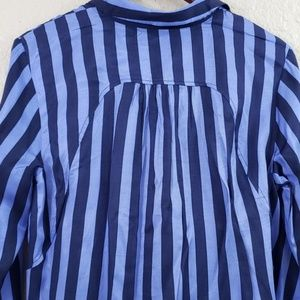 Anthropologie Tops - Maeve by Anthropologie Striped Tunic button down